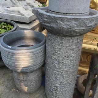 日式 石磨 流水