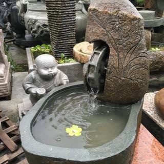 水車 造型 流水