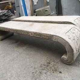 古體 雕刻 石椅