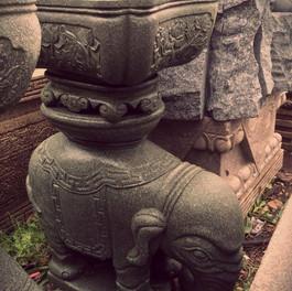 大象 造型 小水缸