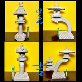 日式 迷你 石燈1