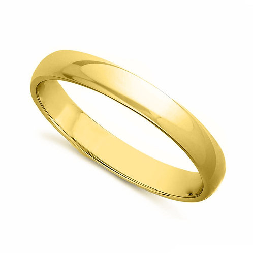 14k Yellow Gold 3-mm Standard-fit Polished Wedding Band