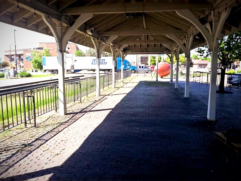 The Depot's historic patio