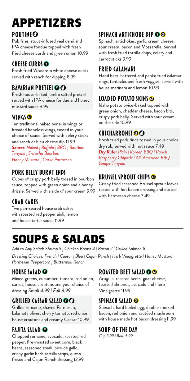 The Depot Appetizers, Soups & Salads