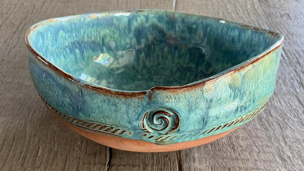 Multi-Use Hand Built Ceramic Bowl: #2