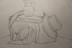 Contour Line drawing of Still-Life