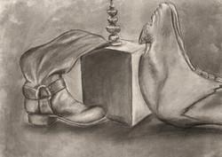 Full Value drawing of Still-Life