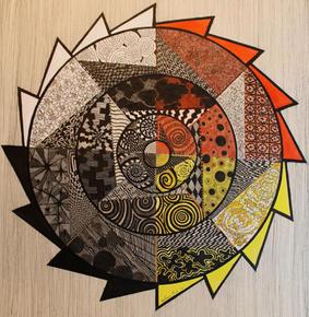 JeLumbee Pinecone Patchwork: Abstract I