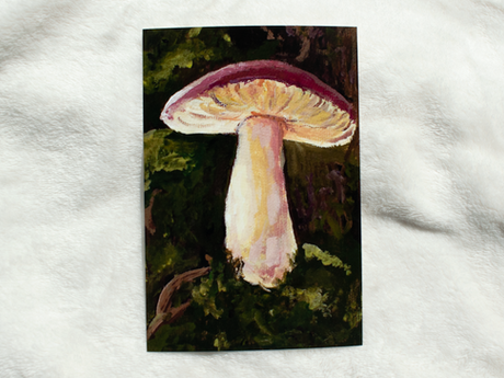 Mushroom Deep in the Forest Print