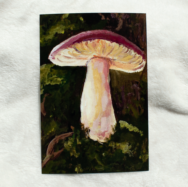 A mushroom deep in the forest print