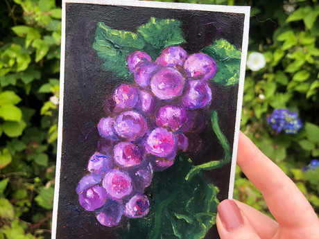 Original Grape Oil Painting