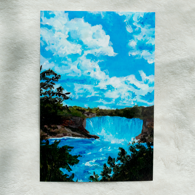 To the Falls Acrylic Painting Print