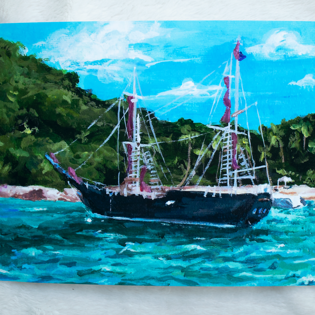 Pirate's Cove Acrylic Painting