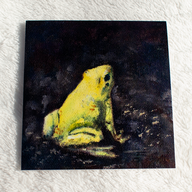 Yellow Frog Oil Painting Print