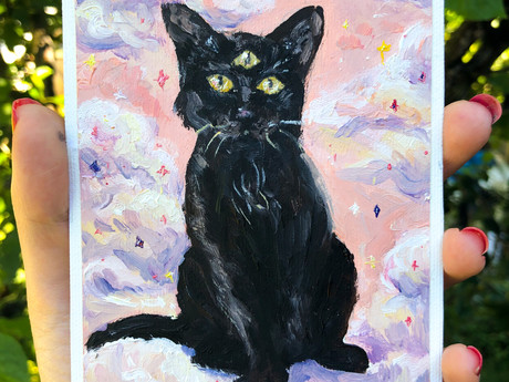 My Familiar Original Oil Painting