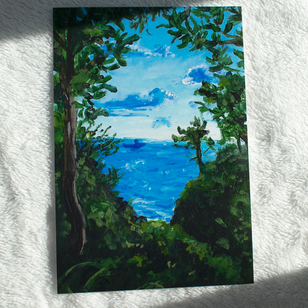 Through the Leaves Acrylic Painting Print