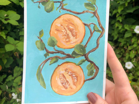 Grapefruit Acrylic Painting
