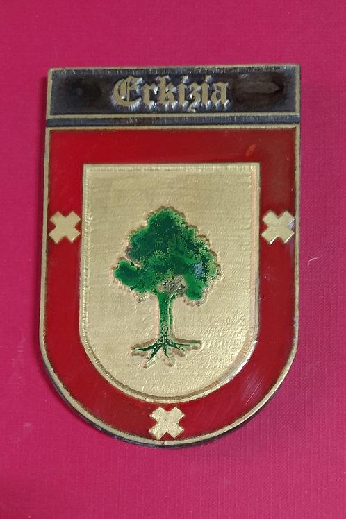 Eckizia, escudo del apellido en esmalte