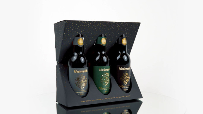 Gift packaging for Valmiermuiza beer collection