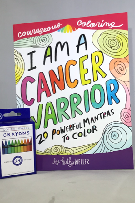 I am a Cancer Warrior with crayons