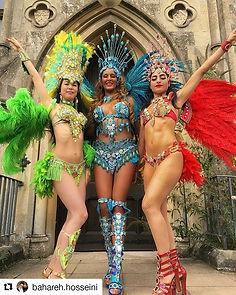 Carnival Samba Dancers UK , Book a Samba Carnival Show , Samba Costumes