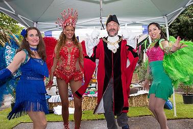 Carnival Samba Dancers and Mayor of Islington , Samba Dance Classes , Greater London , Samba Costumes