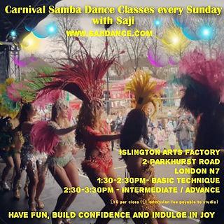 Brazilian Carnival  Samba Dance Classes | London | Dance Classes | Carnival | Samba Dancers