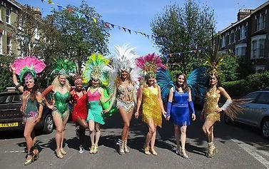 Samba Carnival Performance , Samba Dance Classes, Greater London , Samba Costumes , Feathers