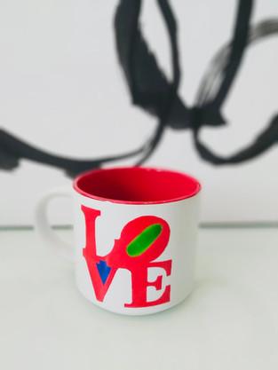 Taza Love Fondo Rojo