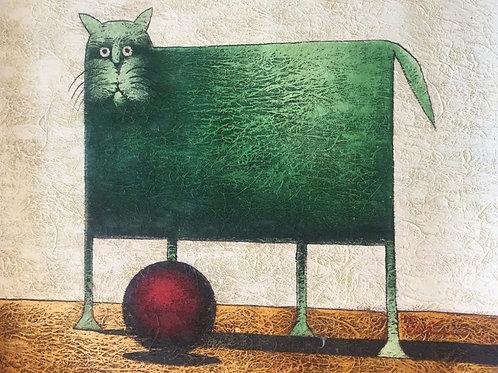 Gato verde - 52x60cm