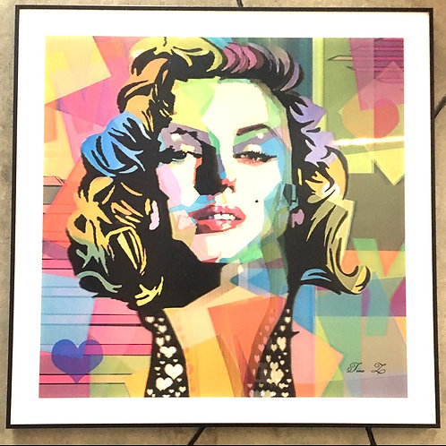 Marilyn Monroe colores 3D