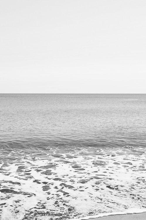 Poster mar blanco y negro