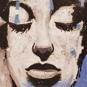 Arte decorativo, rostros femeninos, rostros