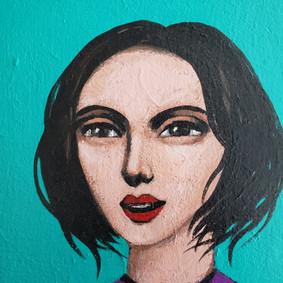 Arte decorativo, rostros femeninos