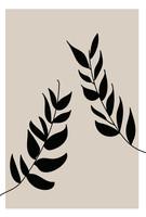 poster hojas abstractas
