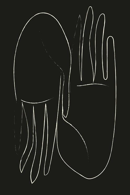 Poster Manos - blanco y negro