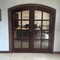 Bank Doors Stain Job