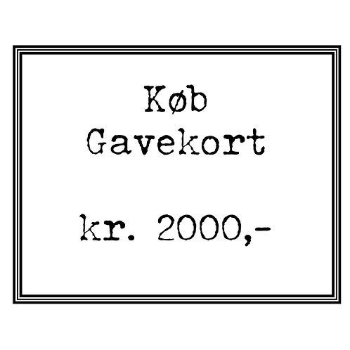 Gavekort kr. 2000,-