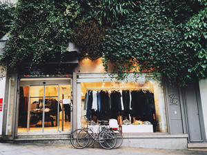 Scenes from a store-front