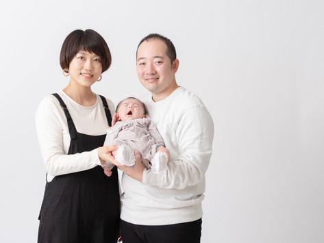 年賀状用 家族写真撮影
