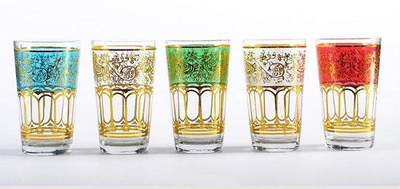 סט 6 כוסות מרוקאיות