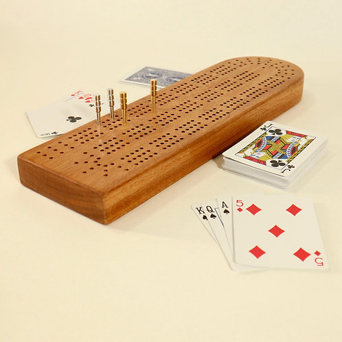 Solid Timber Cribbage Board