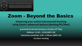 Webinar and Workshop: Zoom – Beyond the Basics. Sunday 24th May