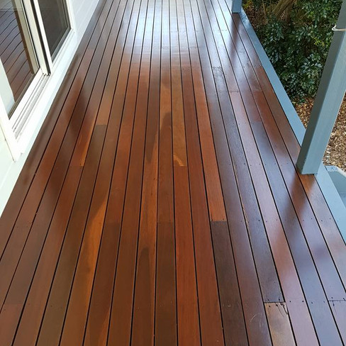 Deck sand and re coat