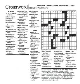 New York Times Crossword 35 ACROSS