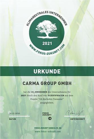 Urkunde CARMA Group GmbH 2021.jpg