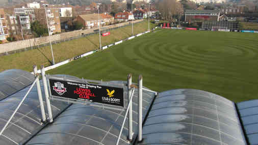 New Sign Boards Installed at Lewes Football Club