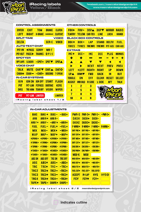 I-Racing LABEL SHEET (Yellow/Black)