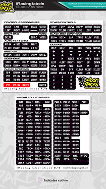 I-Racing LABEL SHEET (Black/white)