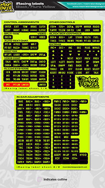 I-Racing LABEL SHEET (Black/FLURO YELLOW)